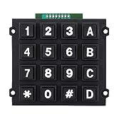 Bewinner Mini Tastiera a 16 Pulsanti Moduli 4x4 Tastiera Esterna Portatile per MCU Dimensioni ridotte Comodo da Usare e collegato per microcontroller a Chip Singolo