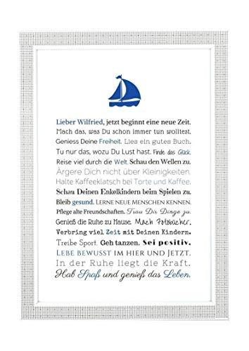 Ruhestand Geschenk Mann: Renter Bild - Karte A4, Kunstdruck, Rente, personalisiertes Bild, Poster