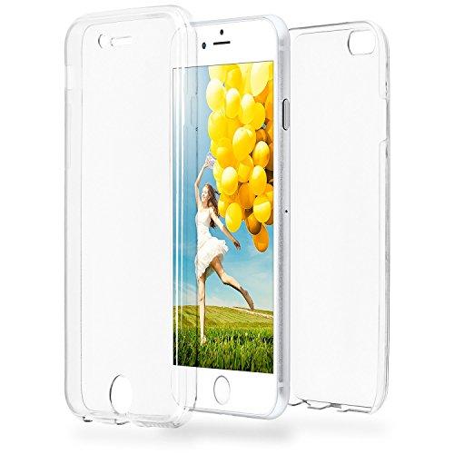 MoEx® Double Case kompatibel mit iPhone 6S Plus / 6 Plus Hülle Silikon Transparent   Beidseitige Handyhülle mit 360 Grad Komplett Rundum-Schutz, Transparent