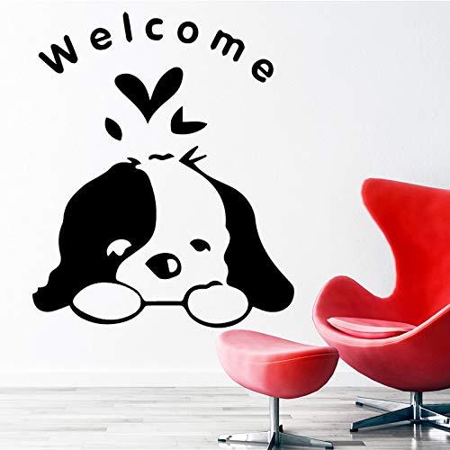 hetingyue Afneembare hond wooncultuur sticker Scandinavische stijl wooncultuur kinderkamer slaapkamer decoratieve muurtattoos wooncultuur