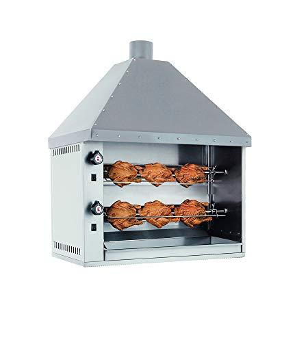 41Gc7+NIQtL - Ubert Kaminhauben-Rotisserie, 2-Spieß, Gas, NWB: 10kW, 230V