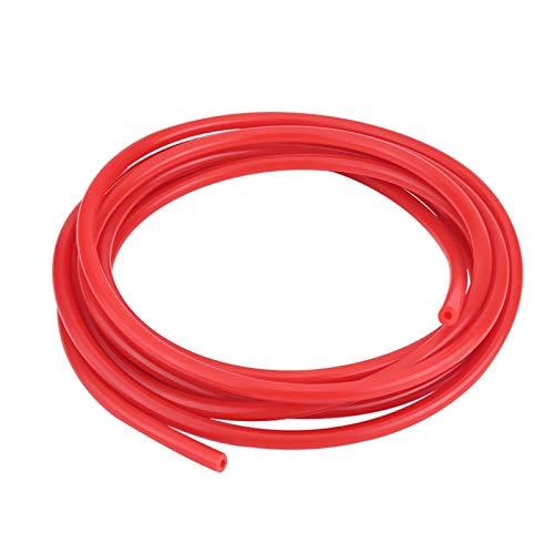 Aoutecen Tubo de vacío, automóvil automático 4 mm 5 Metros Tubo de vacío de Silicona Tubo de Manguera Tubo de Silicona Tubo de Silicona Universal con Caucho de Silicona para automóvil(Rojo)