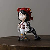 建物の付属品装飾品彫像彫刻彫刻彫像少女芸術彫刻置物彫像創造的な樹脂クラフト家の装飾