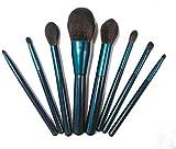 Woodtree Maquillaje paño, Cepillo del Maquillaje de 8 Juegos de paño de Maquillaje de la fundación, en Polvo, Corrector, Colorete, Sombra de Ojos.