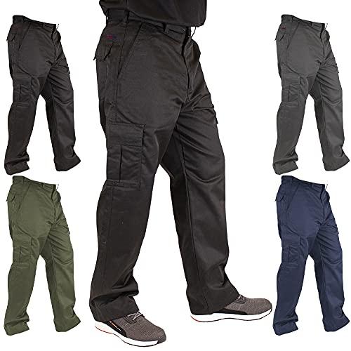Lee Cooper Mens Classic Workwear Pant Cargo Trouser, Black, 32W/31L...