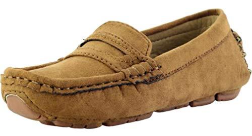 PPXID Schuhe für Mädchen, Jungen, klassisch, Wildleder, Flâneurs Confort Mokassins, - braun - Größe: 26 EU