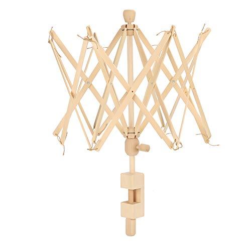 String Winder Holder Machine, Abriebfest und langlebig Holzmaterial mit Regenschirm Form für Home Office Stricken und Häkeln