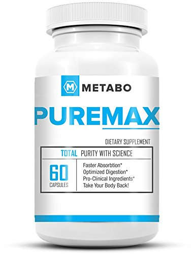 Metabo PUREMAX - The Perfect Compliment to Any Diet - Reduce Appetite, Burn Fat, and Increase Energy - for Ultimate Fat Melting Combine with Metabo SLIMAX! (1 Bottle)