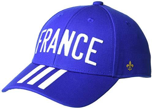 adidas France Baseball Cap, Team Royal Blue/White/Gold Metallic,