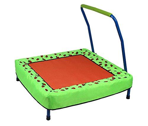 hj JH Trampolino Elastico Tondo Pieghevole per Bambini (85 * 86 * 78 CM, Max 55 kg), con Motivo Decorativo a Forma di Fragola