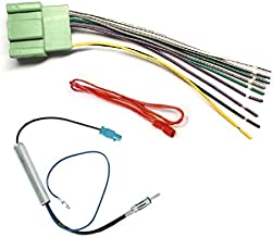 Car Stereo Radio Wire Harness and Antenna Adapter Combo to Install an Aftermarket Radio for select 2014+ GM Chevrolet GMC Vehicles - No Factory Premium Amp - See compatible vehicles below