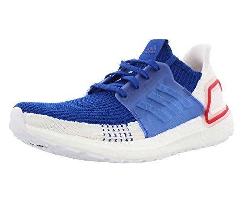 adidas Men's Ultraboost 19 Running Shoe, White/White/Grey, 13 M US