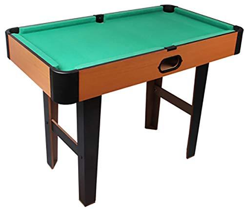 WLDOCA 4.1' Feet Billard Billardtisch Snooker Full Set Zubehör Spiel mod, Mini Indoor Billardtisch für Kinder und Erwachsene, Mobiles & Movable, EIN voller Satz Werkzeuge,Grün