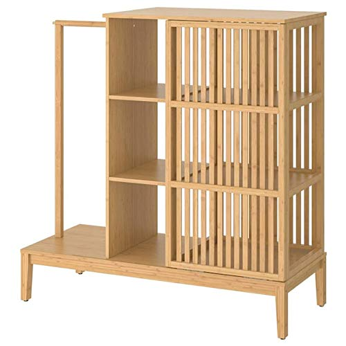 IKEA Nordkisa 304.394.76 Armario abierto con puerta corredera de bambú
