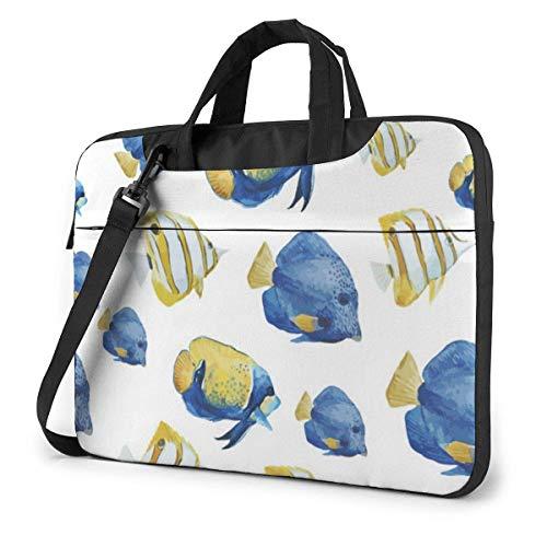 Marine Fish Laptop Bag 13 Inch Shoulder Messenger Bag Computer Tote Briefcase for Work School