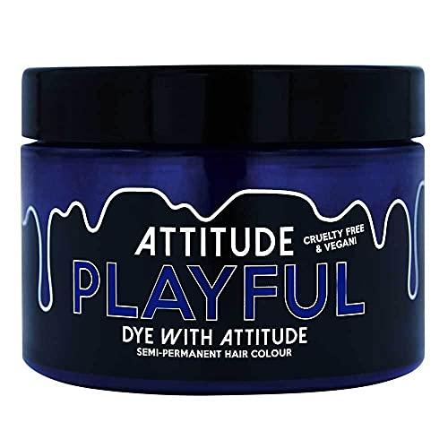 Attitude Haarfarbe - Vegan Semi Permanent Hair Color - Haartönung mit Conditioner - Farbe Playful Lila