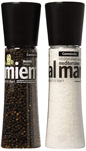 Carmencita Molinillos de Sal y Pimienta Negra - 1 paquete