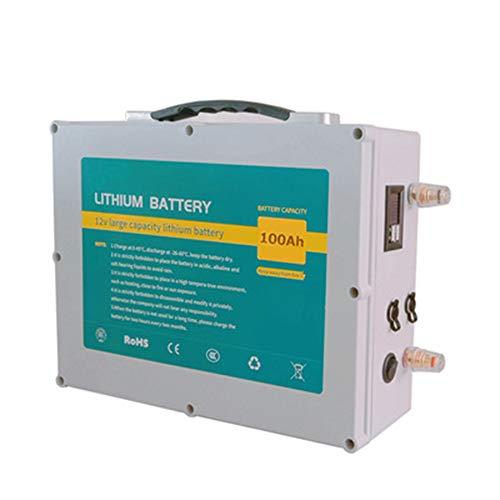 ROZIN Paquete De Batería 12V 100Ah Lifepo4 12V Batería De Litio BMS...