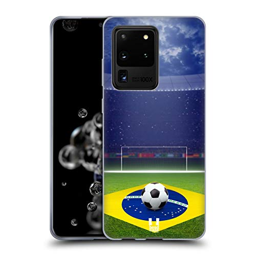 Head Case Designs Illuminiert Fussballfeld In Der Nacht Fussball Schnappschüsse Soft Gel Huelle kompatibel mit Samsung Galaxy S20 Ultra 5G