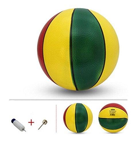 Cuir Colorful Basketball 13cm Diamètre de l'âge 3+ Cadeaux pour les enfants