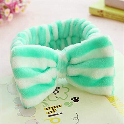 8 PcsBig Rabbit Ear Coral Fleece Head Band Soft Elastic Hair Ribbon SPA Bath Shower Make Up Wash Face Headband Hair Band Headwear 2