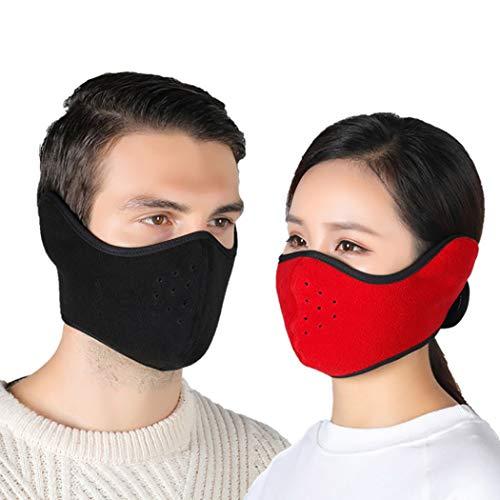Zoestar Sturmhaube, halbe Gesichtsbedeckung, Sport, Workout, Skimaske, Ohrenschützer, Mundmasken, Motorradfahren, Reiten, Kopftücher, für Damen und Herren (2 Stück)
