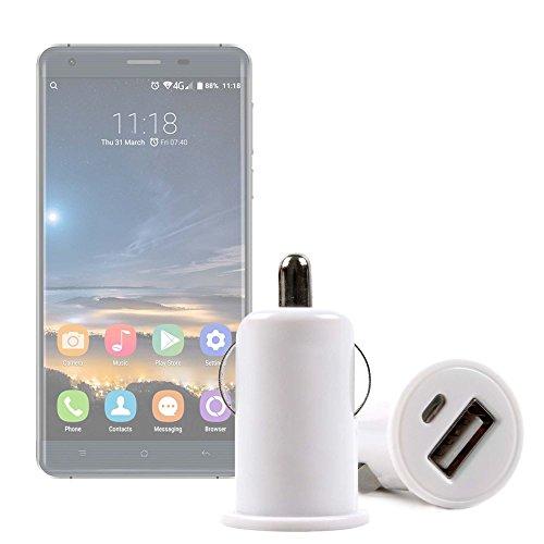 DURAGADGET Cargador Mechero del Coche con Puerto USB para Smartphone Oukitel K6000 Pro   Ulefone Metal - ¡No Se Quede Sin Batería Mientras Va Conduciendo!