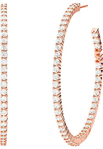 Michael Kors Damen-Creole 925er Silber One Size Roségold 32013113