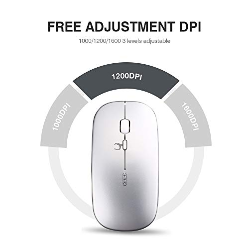 INPHIC Silent Rechargeable Wireless Mouse 1600dpi