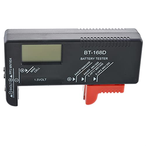LIXIAONMKOP ANENG AN-168 Testeur de la batterie au lithium numérique Testeur à carreaux de charge de la charge de la charge de la charge de la cellule 168D (Color : Black)