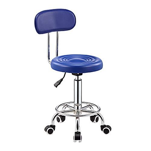In hoogte verstelbaar 360° draaibare bureaustoel draaibare stoel, comuputer stoel kinderkamer robuuste stof, verstelbaar, Office Task Study stoel, met Soft-Bottom Rollers Large Blauw