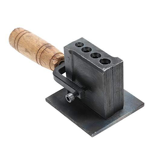 Stampo reversibile da gioielliere con scanalatura a incastro, strumento di fusione in metallo per lamine e lingotti di oro e argento, 20 x 8 x 8 cm