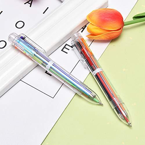TUANTUAN 1 bolígrafo de 0,5 mm 6 en 1 de juguete de dibujo de gel multicolor, pintura de 6 colores retráctiles para oficina, suministros escolares, estudiantes, regalo para niños