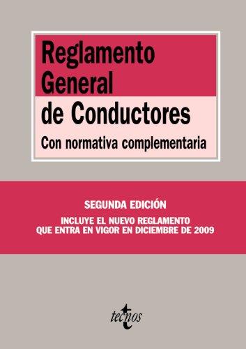 Reglamento General de Conductores: Con normativa complementaria (Derecho - Biblioteca De Textos Legales)