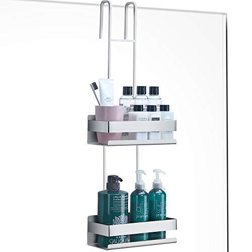 RUICER Duschkorb Doppelt - Duschablage zum Hängen Duschregal Edelstahl Ohne Bohren für Badezimmer