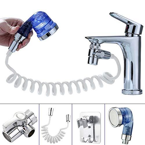 XIAOSHA Juego de cabezales de extensión de ducha de lavabo desmontable ajustable de conexión rápida, calidad fiable a mano, se adapta a la forma de la mano, agarre muy apretado.