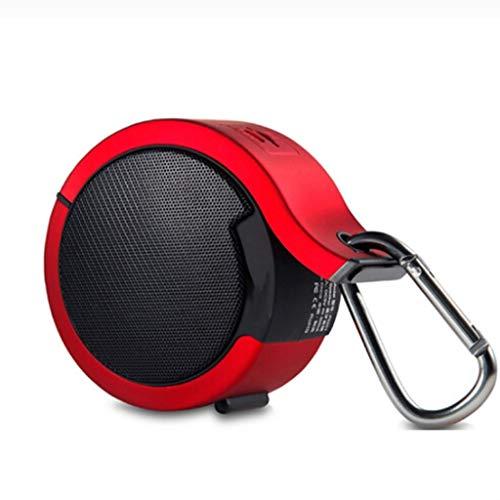 Lamp love Subwoofer Altavoz Bluetooth Subwoofer Portátil Inalámbrico Móvil Walkman Computadora Móvil Tarjeta De Deportes Al Aire Libre Mini Altavoz De Audio Accesorios Electronicos (Color : Red)
