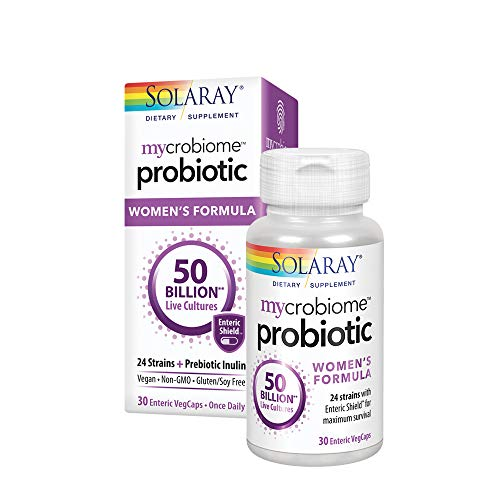 Solaray Mycrobiome Probiotic Womens Formula | Specially Formulated for Women | Digestion, Mood & Urinary Tract Support | 50 Billion CFU | 30 VegCaps