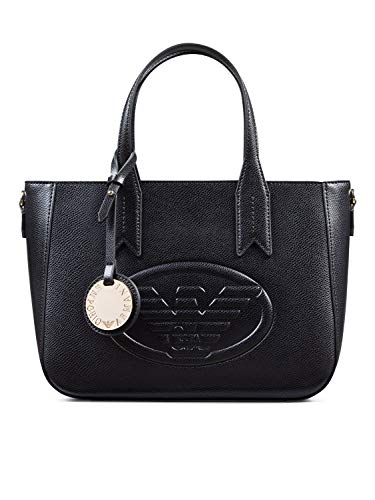 Emporio Armani Frida Small Eagle Logo Tote Bag One Size BLACK