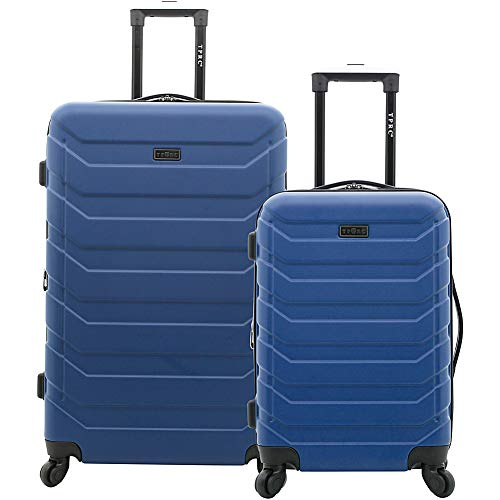 TPRC Madison Heights Expandable Spinner Hardside Luggage Set, Navy Blue, 2-Piece (28' and 20')