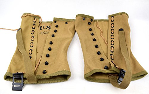 Replica WWII US Canvas Pants Gaiter Leggings Puttee Khaki