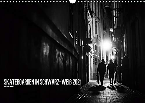 Skateboarden in Schwarz-Weiß (Wandkalender 2021 DIN A3 quer)