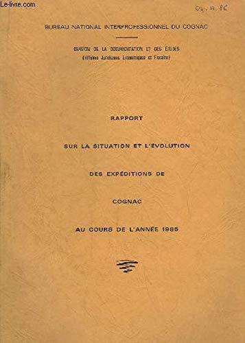 professionnel comparateur Rapport sur l'état et l'évolution de l'offre de cognac en 1985 choix