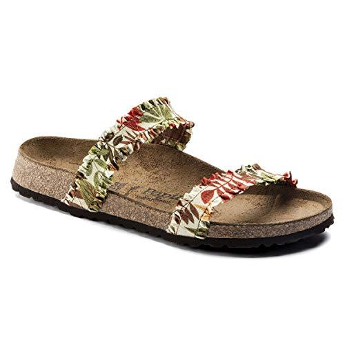 Papillio Weiblich Curacao Stretch schmal Pantolette, Flower Frill Brown, 38 EU