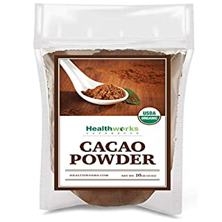 Healthworks Cacao Powder (16 Ounces / 1 Pound) | Cocoa Chocolate Substitute | Certified Organic | Sugar-Free, Keto, Vegan & Non-GMO | Peruvian Bean/Nut Origin | Antioxidant Superfood (B00EKLPLU4) | Amazon price tracker / tracking, Amazon price history charts, Amazon price watches, Amazon price drop alerts