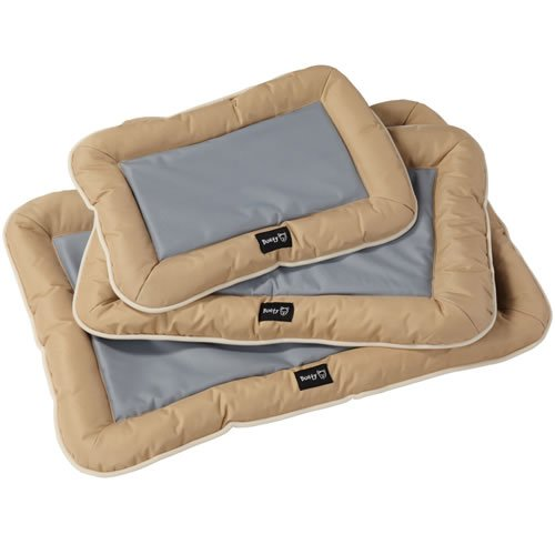 Bunty Utility - Cama para Perro, Impermeable, Lavable, Resistente, Cesta para colchón de Mascotas, Color Crema - Mediana