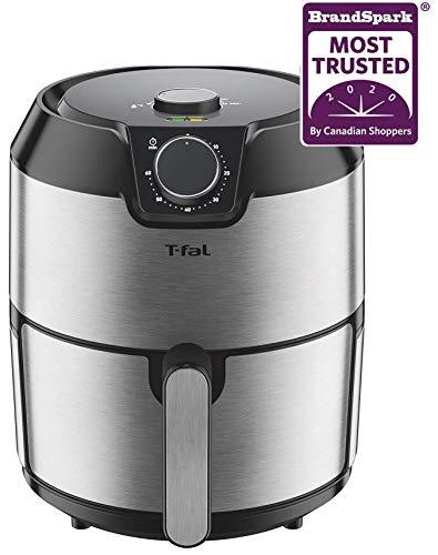 T-fal EY201D50 T-fal Easy Fry Prestige XL Air Fryer, Low Oil, Dishwasher Safe, Patented Basket System, 4.2L, Stainless Steel, Large