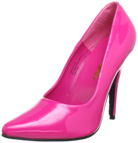 Pleaser SEDUCE-420 Damen Pumps, Pink (H. pink pat), EU 44 (UK 11) (US 14)