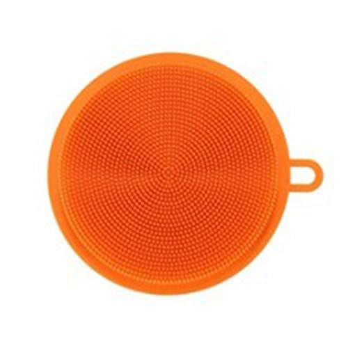 GreceMonday Silikon Schwamm Dish Washing Küche Scrubber Lebensmittel Grade Geschirr Mehrzweck Schwämme Non Stick Reinigung Küchenbürste orange