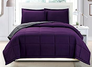 Best purple grey comforter Reviews